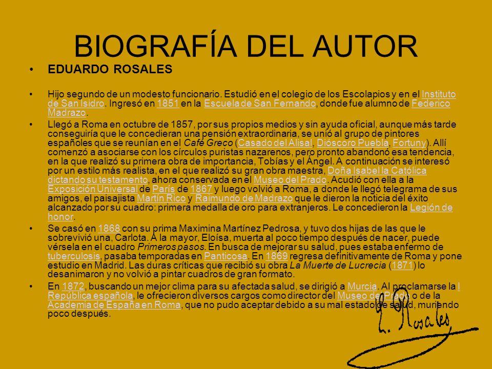 BIOGRAFÍA DEL AUTOR EDUARDO ROSALES