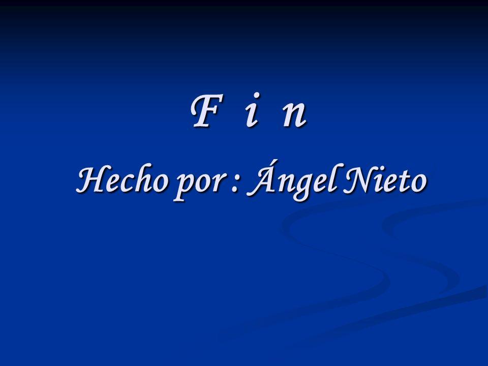 F i n Hecho por : Ángel Nieto