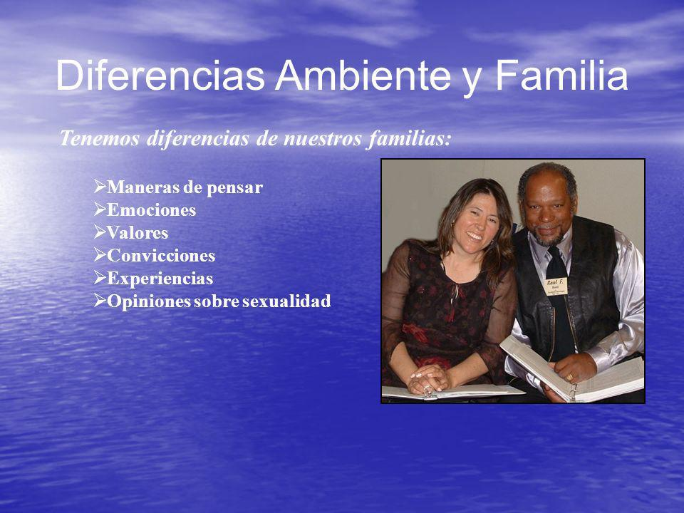 Diferencias Ambiente y Familia