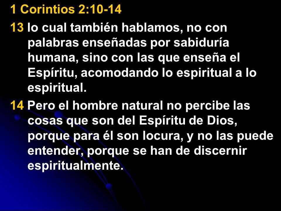 1 Corintios 2:10-14