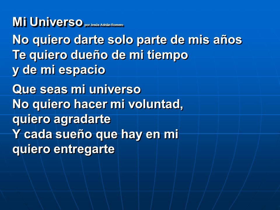 Mi Universo por Jesús Adrián Romero