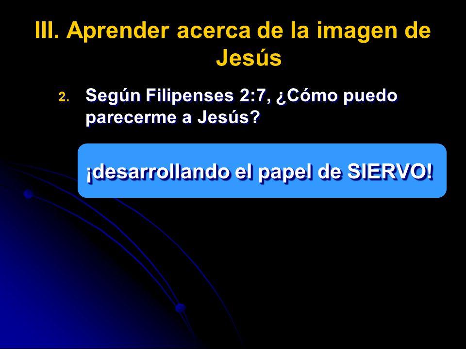 Aprender acerca de la imagen de Jesús