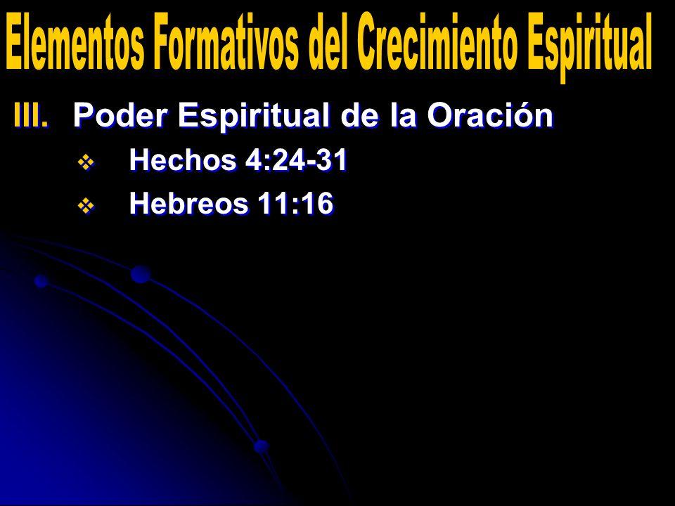 Elementos Formativos del Crecimiento Espiritual