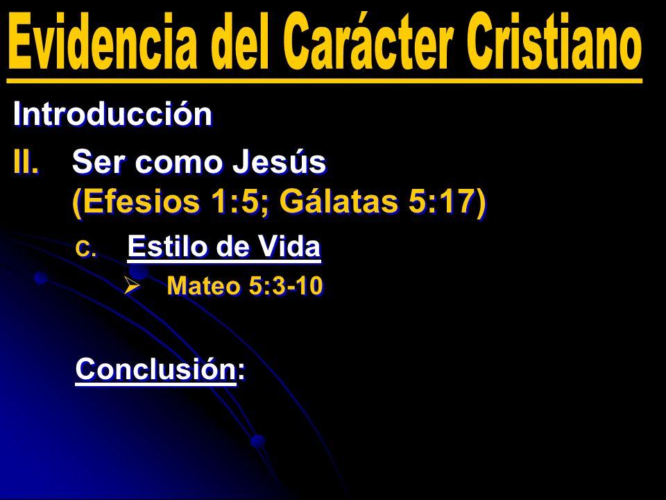 Evidencia del Carácter Cristiano