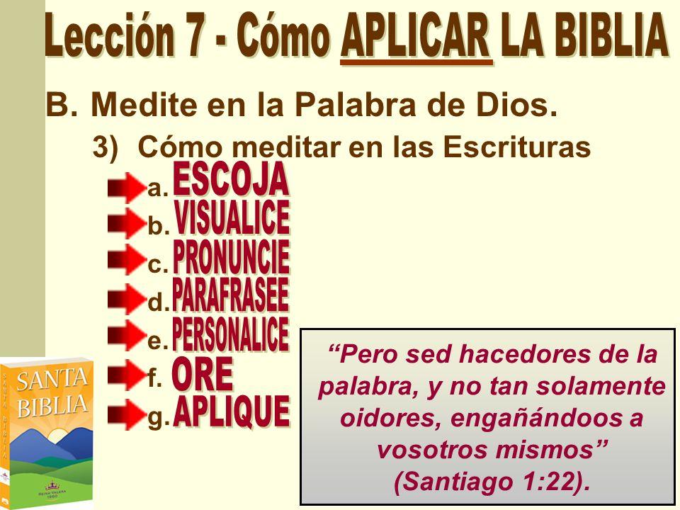 Lección 7 - Cómo APLICAR LA BIBLIA