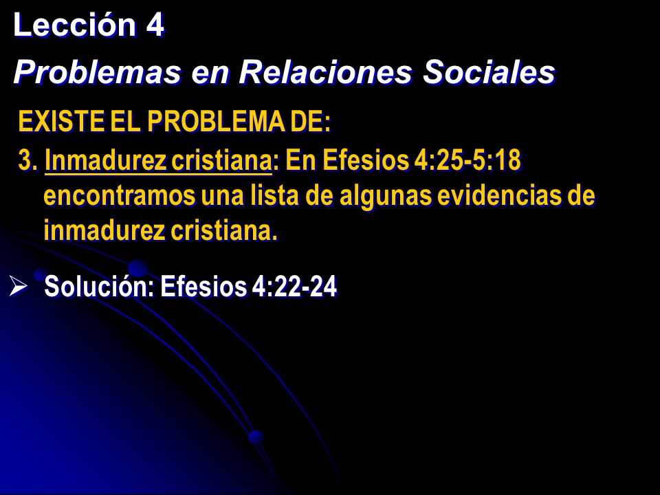Problemas en Relaciones Sociales