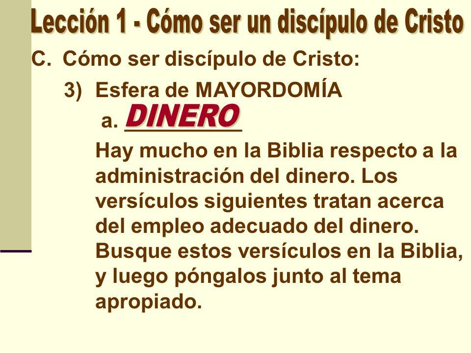 Lección 1 - Cómo ser un discípulo de Cristo