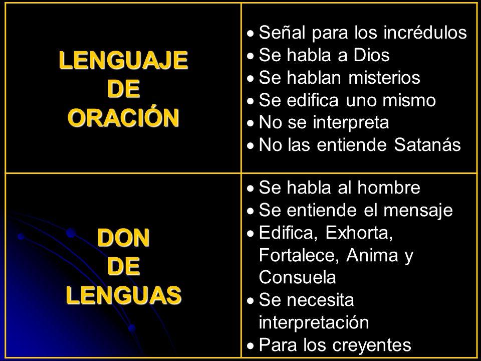LENGUAJE DE ORACIÓN DON LENGUAS