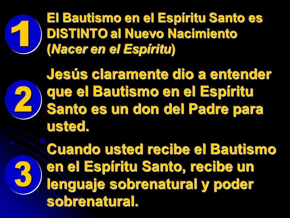 El Bautismo en el Espíritu Santo es DISTINTO al Nuevo Nacimiento (Nacer en el Espíritu)