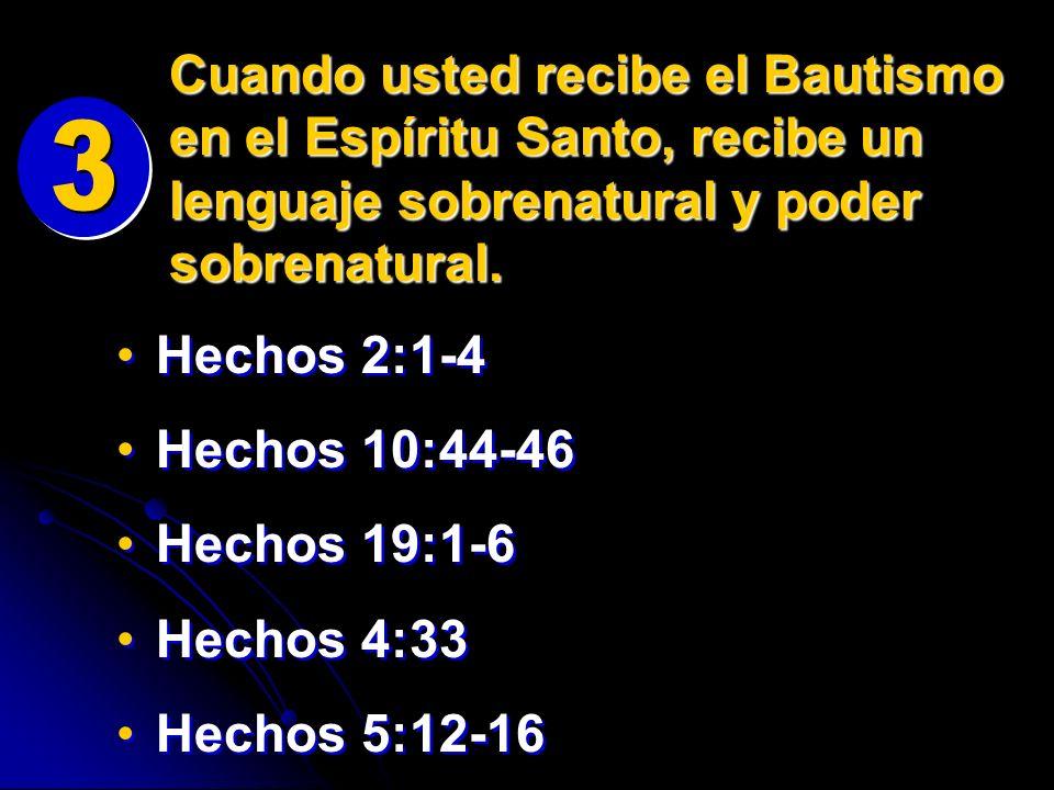 Cuando usted recibe el Bautismo en el Espíritu Santo, recibe un lenguaje sobrenatural y poder sobrenatural.