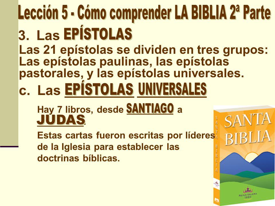 Lección 5 - Cómo comprender LA BIBLIA 2ª Parte