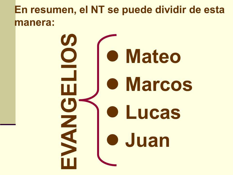 EVANGELIOS Mateo Marcos Lucas Juan