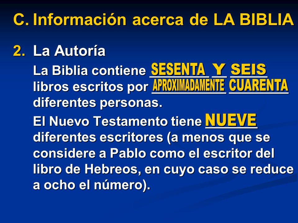 Información acerca de LA BIBLIA