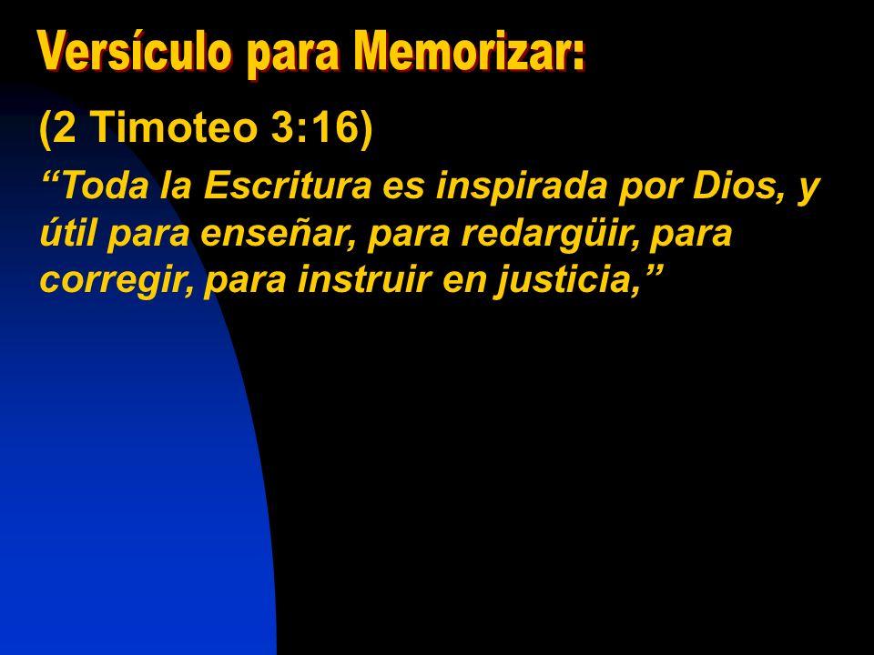 Versículo para Memorizar: