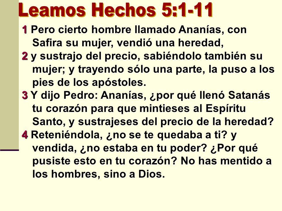 Leamos Hechos 5:1-11