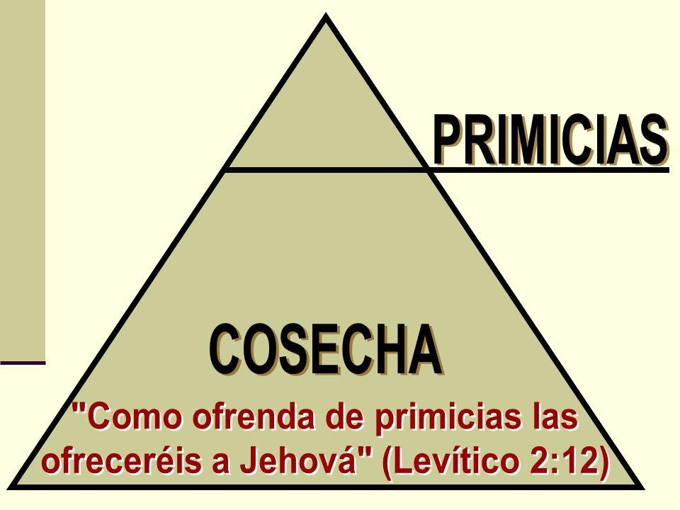 Como ofrenda de primicias las ofreceréis a Jehová (Levítico 2:12)