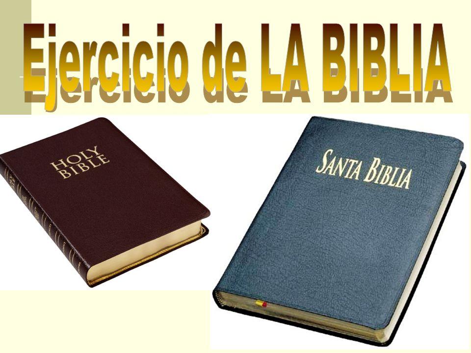 Ejercicio de LA BIBLIA
