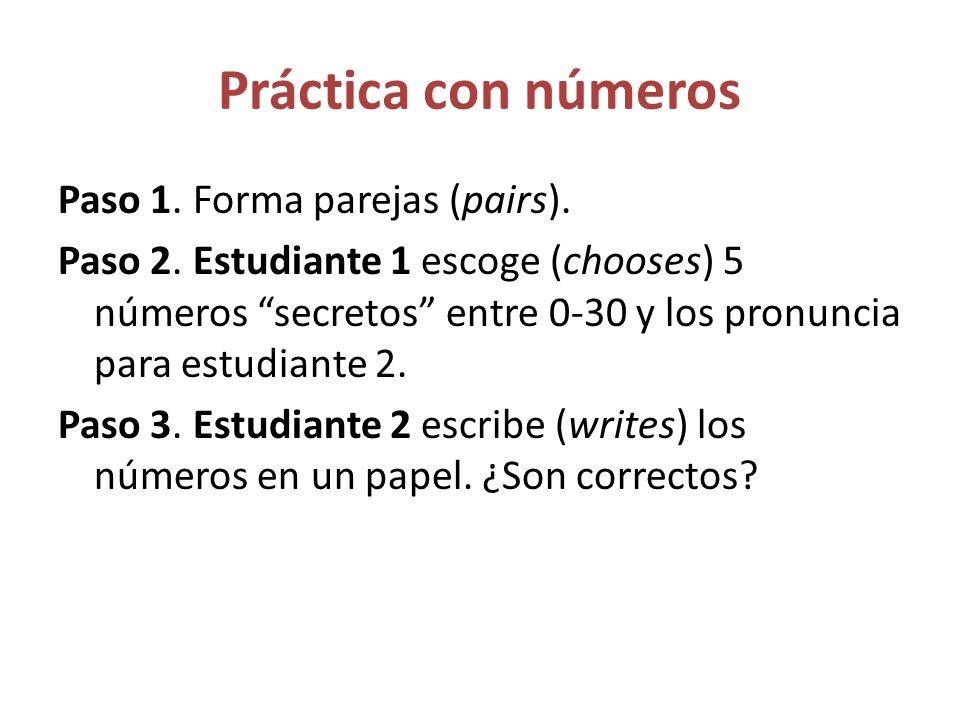 Práctica con números
