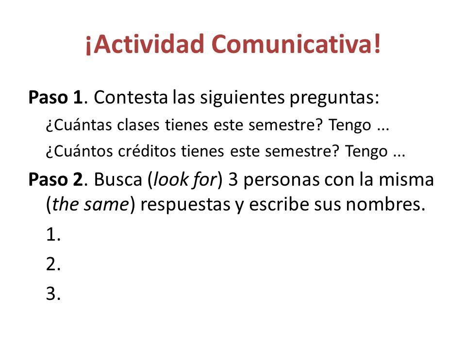 ¡Actividad Comunicativa!