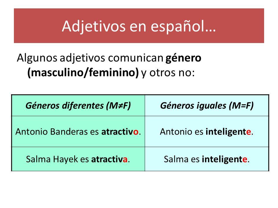 Géneros diferentes (M≠F)