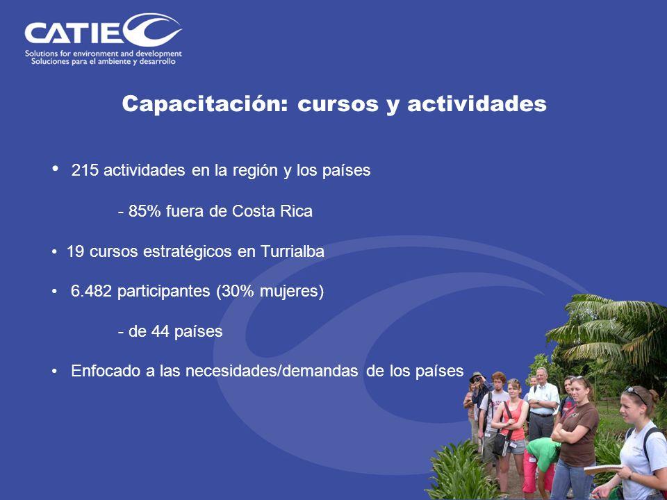 Capacitación: cursos y actividades