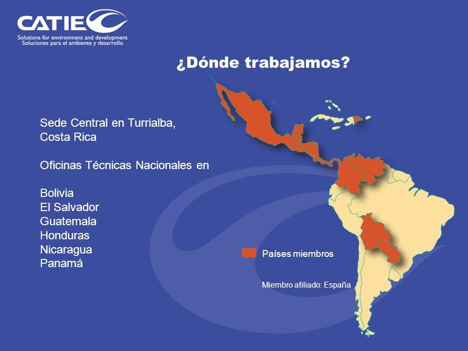 ¿Dónde trabajamos Sede Central en Turrialba, Costa Rica