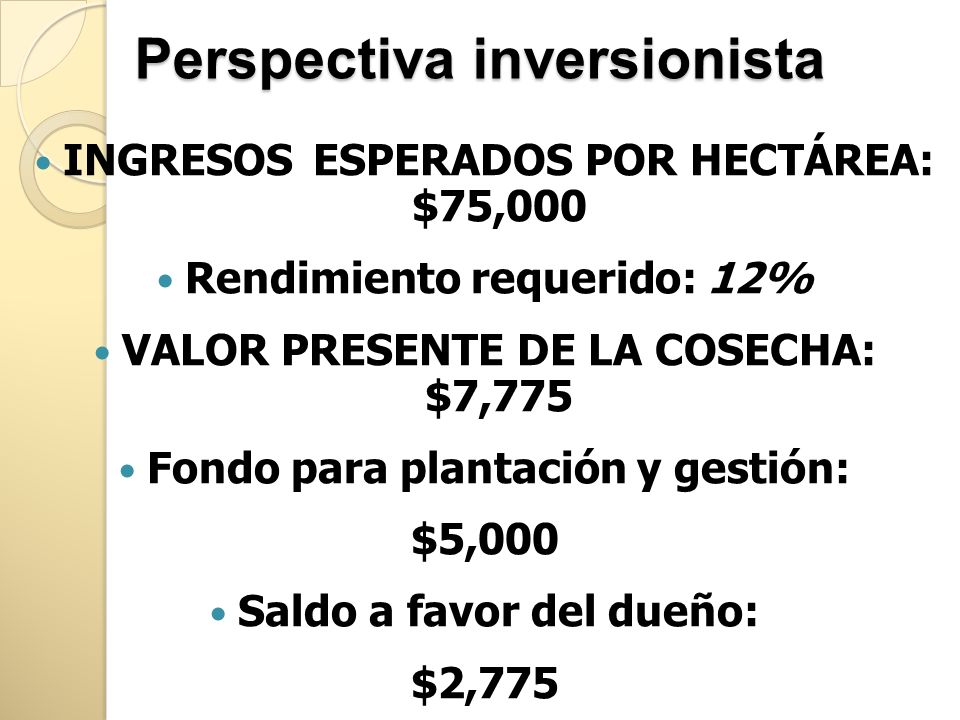 Perspectiva inversionista