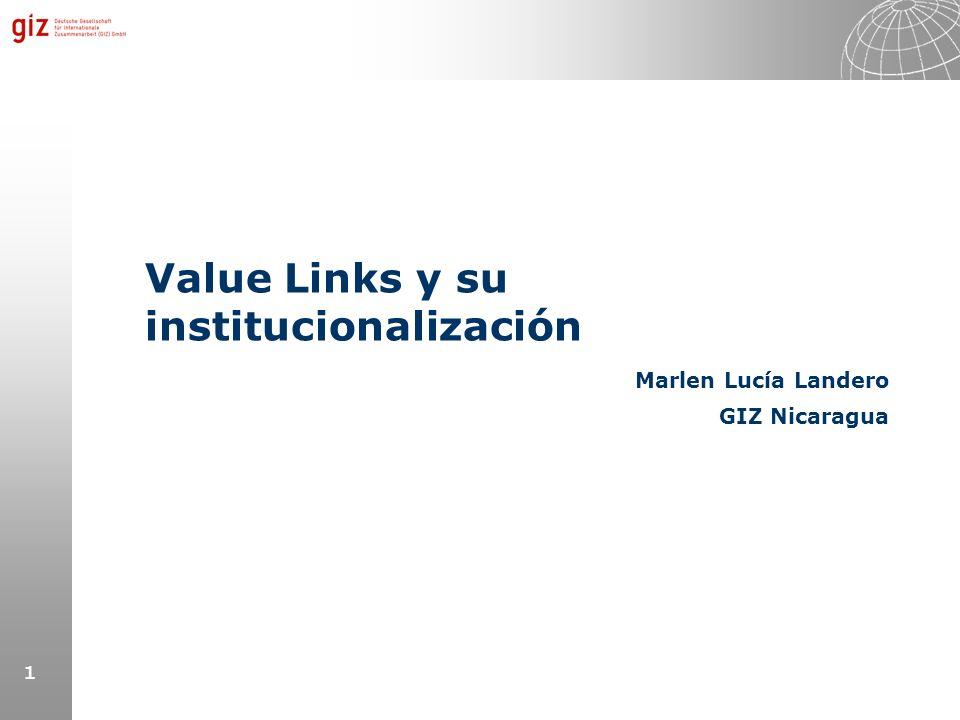 Value Links y su institucionalización