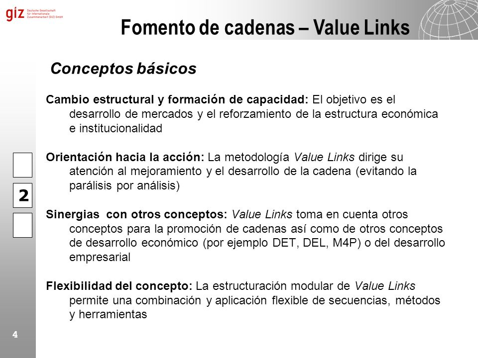Fomento de cadenas – Value Links