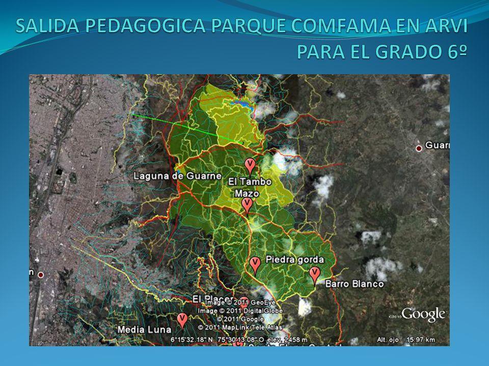 SALIDA PEDAGOGICA PARQUE COMFAMA EN ARVI PARA EL GRADO 6º