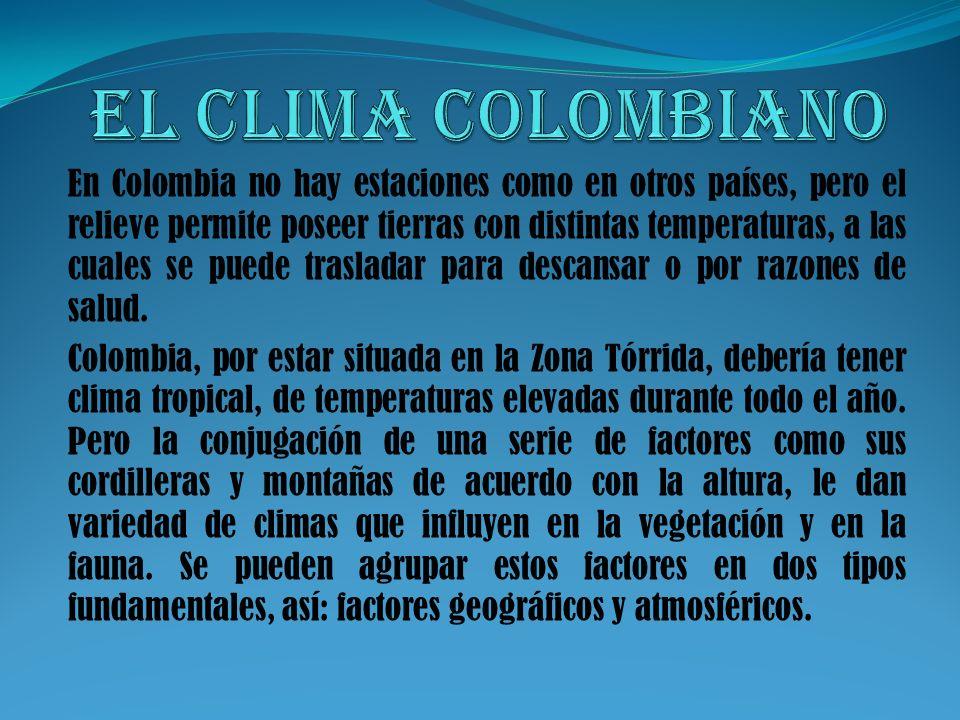 El clima colombiano