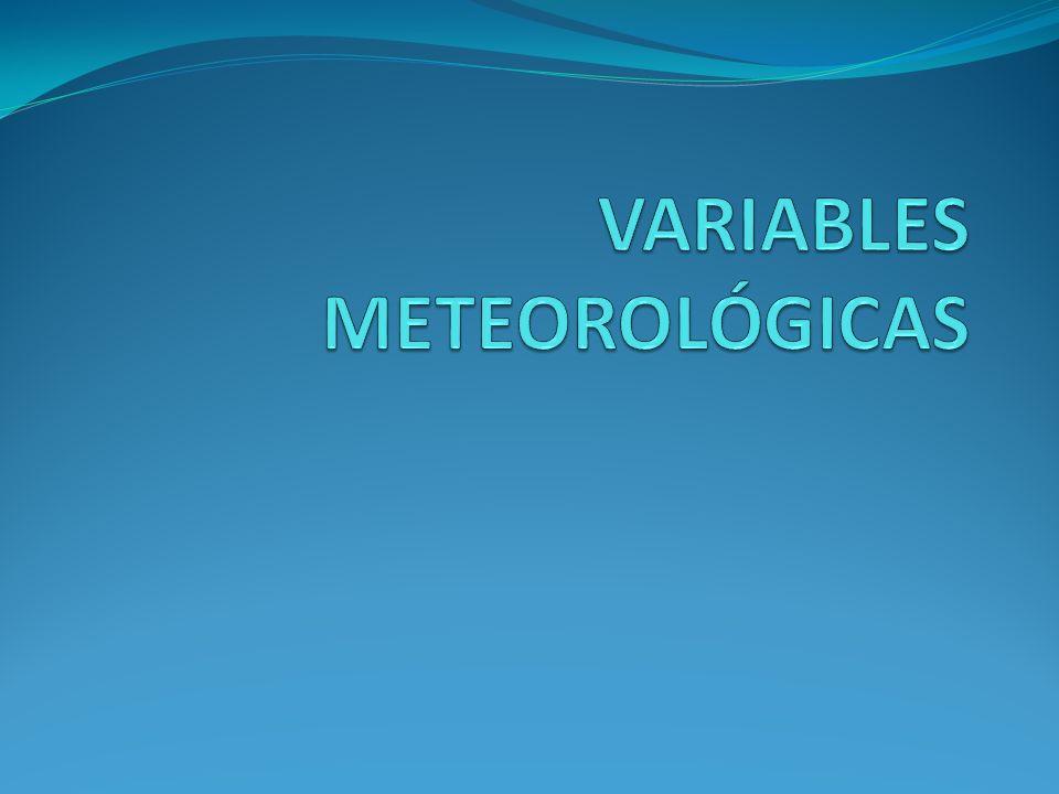 VARIABLES METEOROLÓGICAS