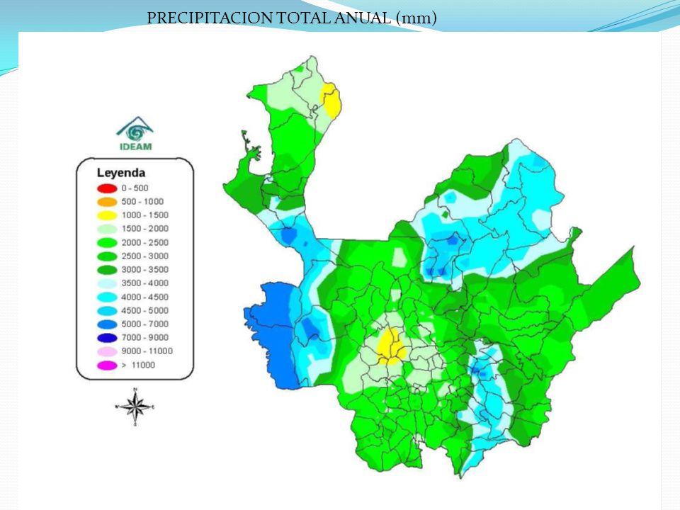 PRECIPITACION TOTAL ANUAL (mm)