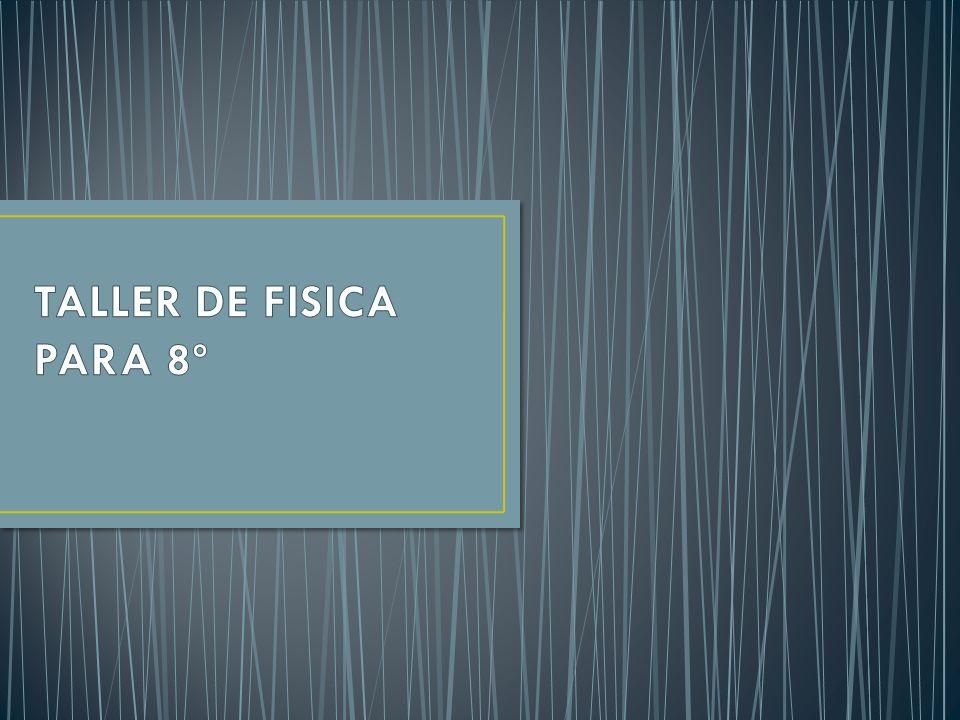 TALLER DE FISICA PARA 8º