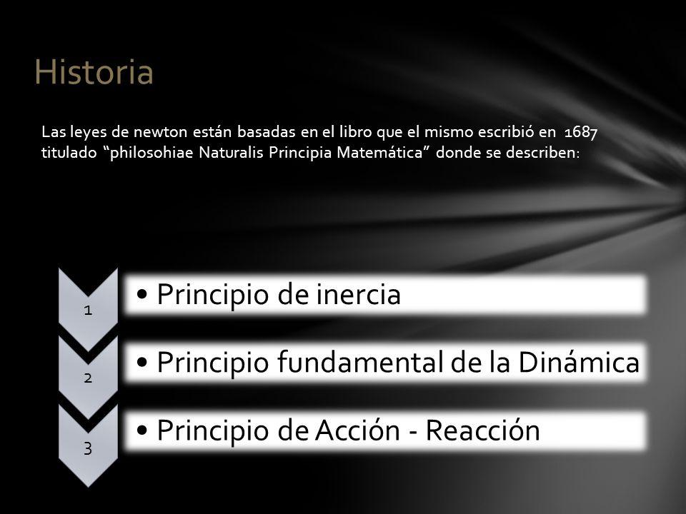 Historia Principio de inercia Principio fundamental de la Dinámica
