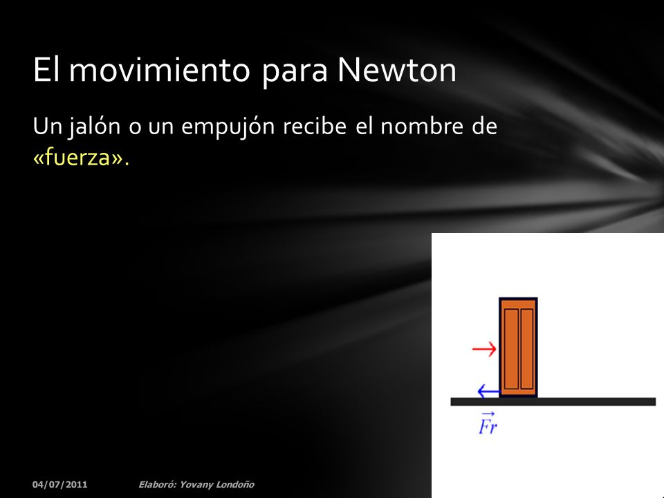 El movimiento para Newton