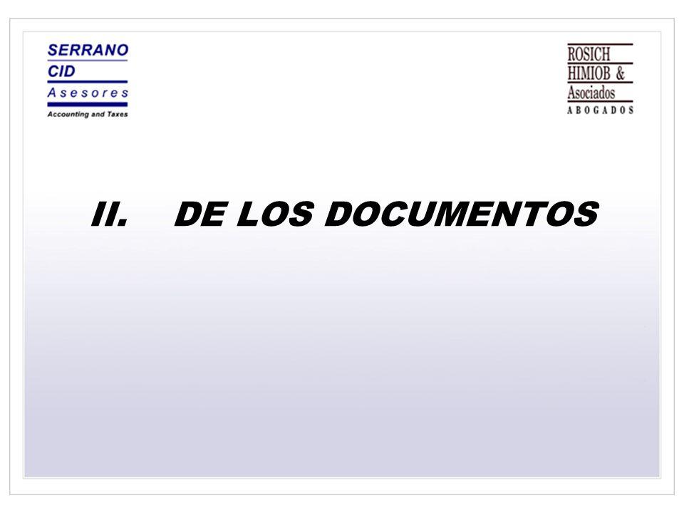DE LOS DOCUMENTOS