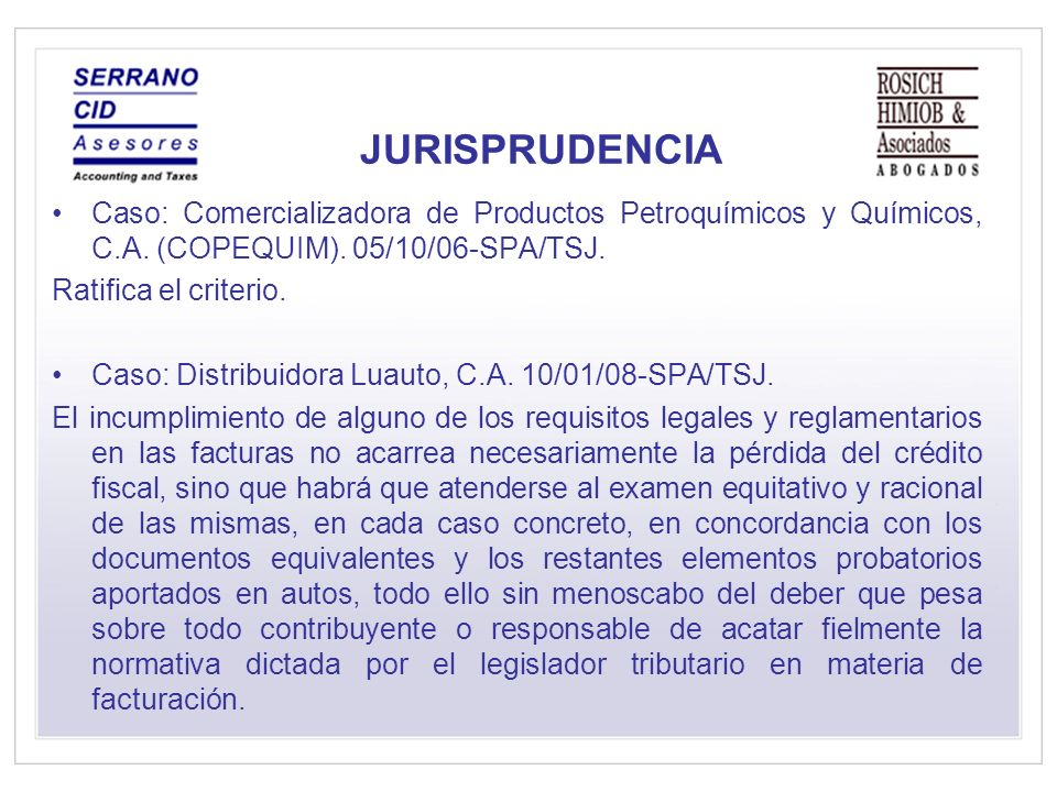 JURISPRUDENCIA Caso: Comercializadora de Productos Petroquímicos y Químicos, C.A. (COPEQUIM). 05/10/06-SPA/TSJ.
