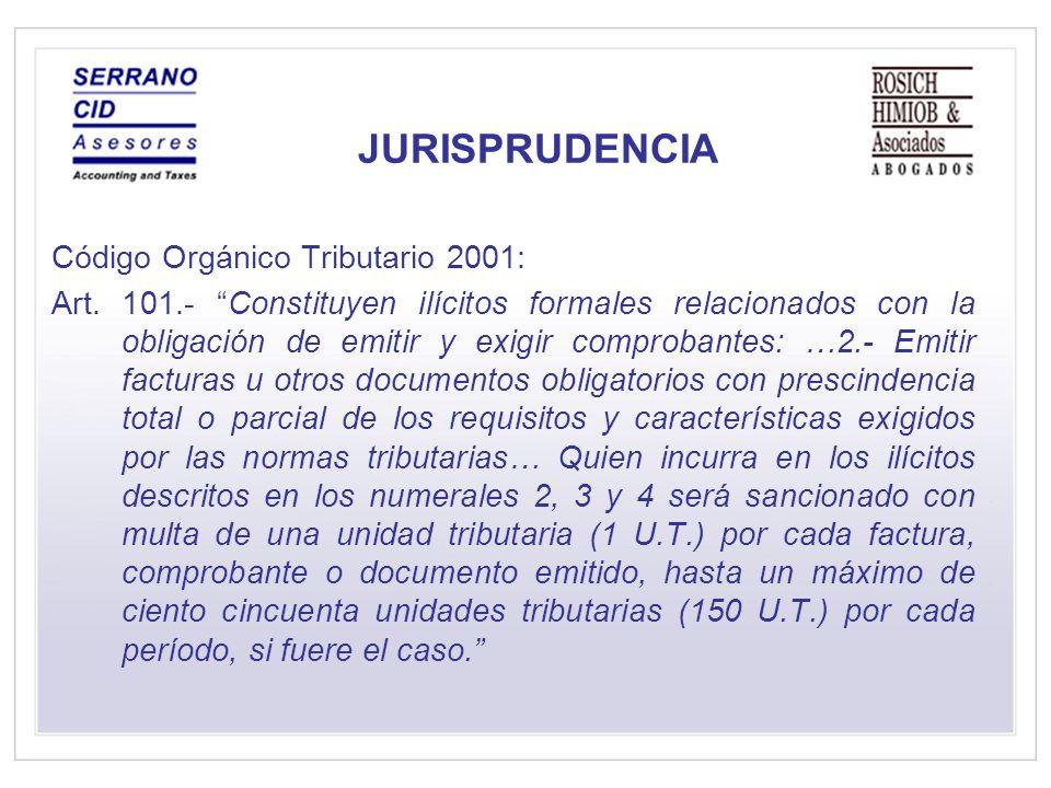 JURISPRUDENCIA Código Orgánico Tributario 2001: