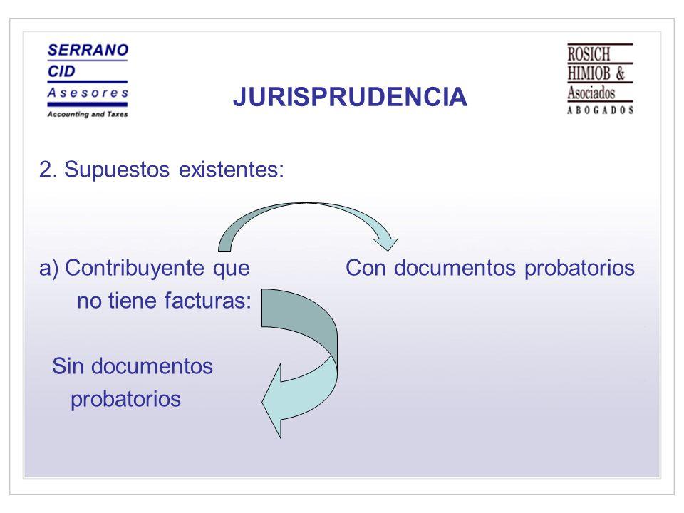 JURISPRUDENCIA 2. Supuestos existentes:
