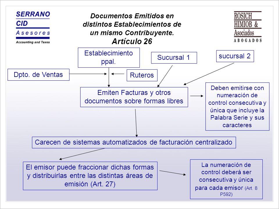 Emiten Facturas y otros documentos sobre formas libres