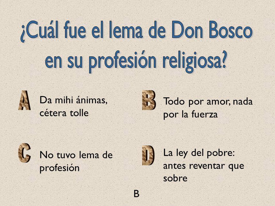 ¿Cuál fue el lema de Don Bosco en su profesión religiosa