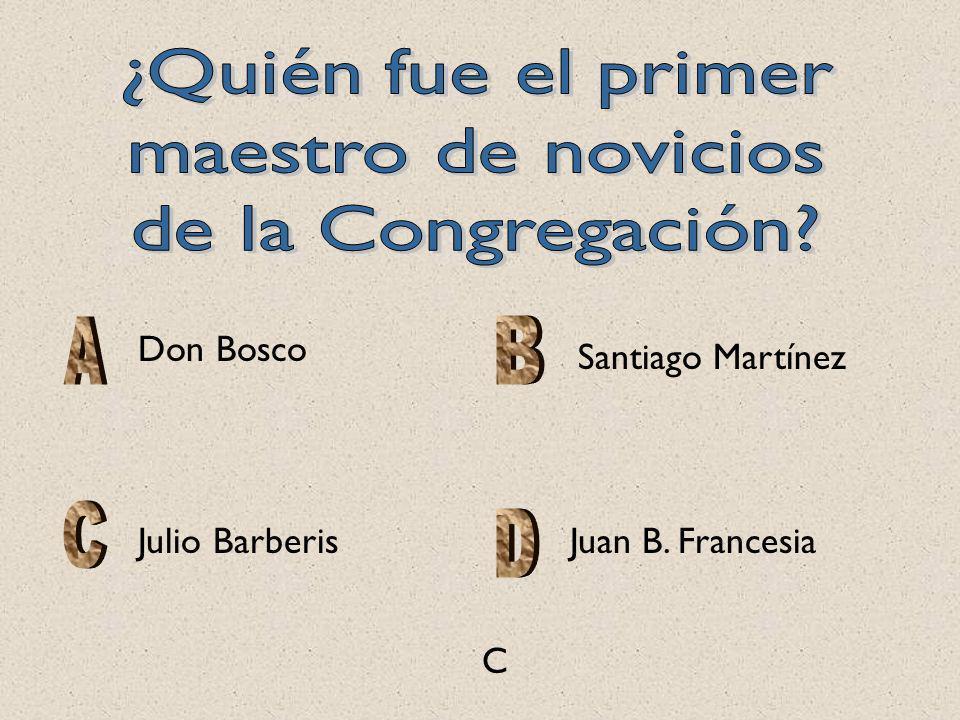 ¿Quién fue el primer maestro de novicios de la Congregación Don Bosco