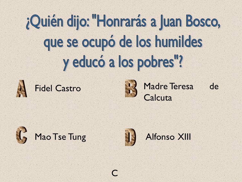 ¿Quién dijo: Honrarás a Juan Bosco, que se ocupó de los humildes