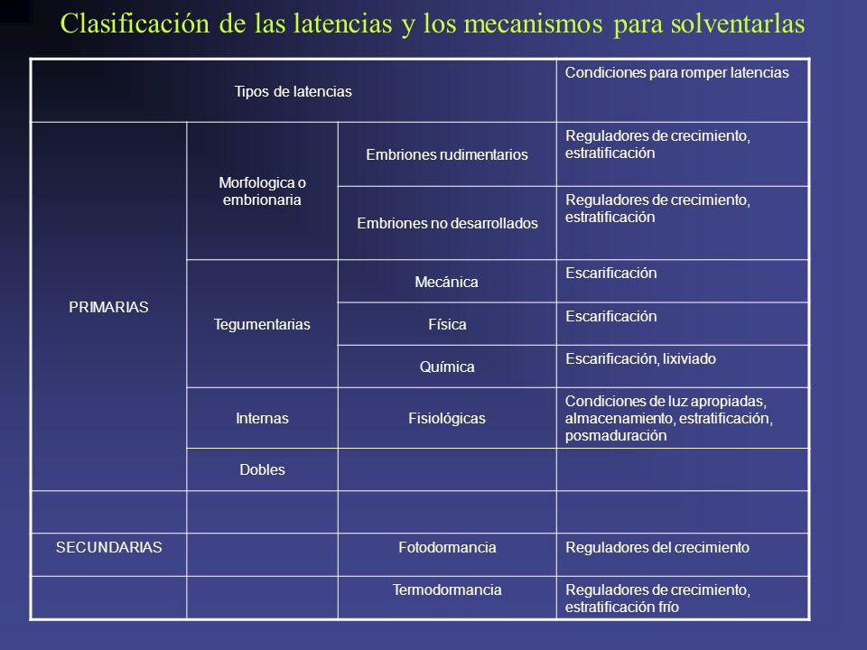 Clasificación de las latencias y los mecanismos para solventarlas