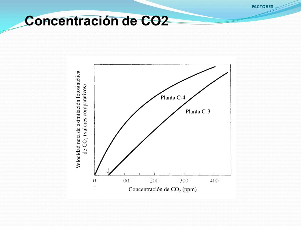 FACTORES…. Concentración de CO2