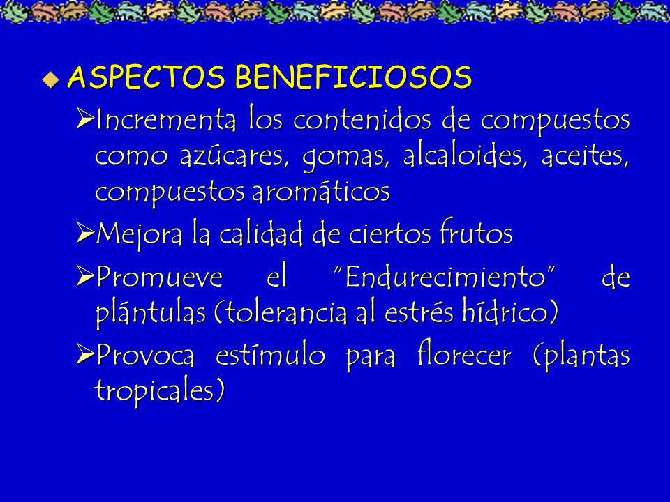 ASPECTOS BENEFICIOSOS