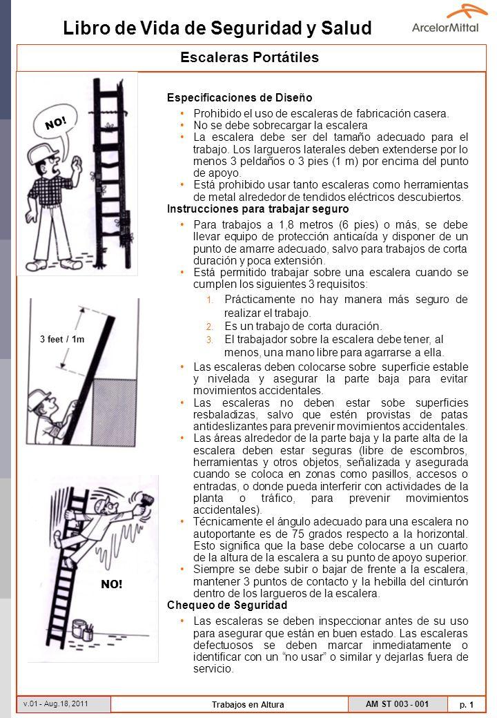 Escaleras Portátiles Especificaciones de Diseño