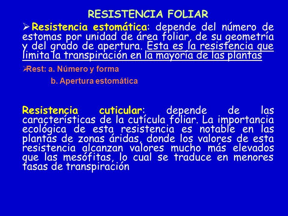 RESISTENCIA FOLIAR