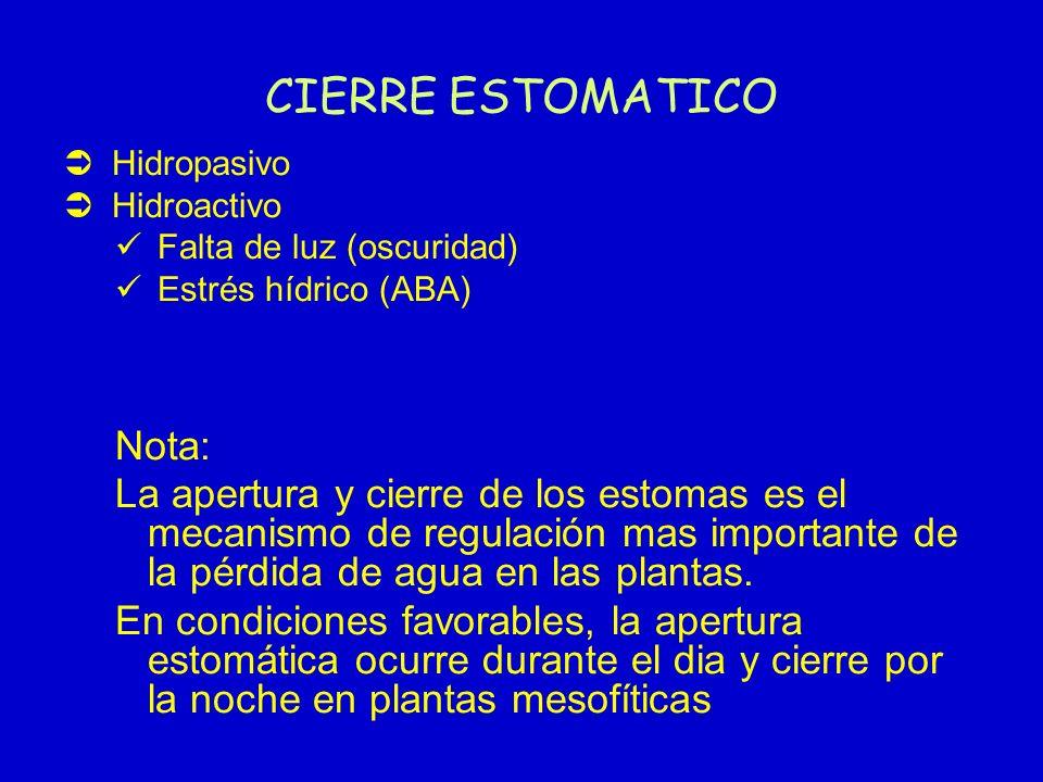 CIERRE ESTOMATICO Nota: